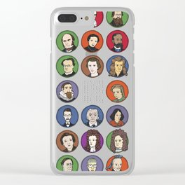 Portraits of Important Scientists Clear iPhone Case