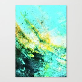 Stormy Turquoise Canvas Print