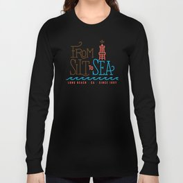 From Silt to Sea | Long Beach California Tribute | From Oil Workers to Surfers Long Sleeve T-shirt