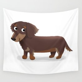 Longhaired Dachshund - Cute Dog Series Wall Tapestry