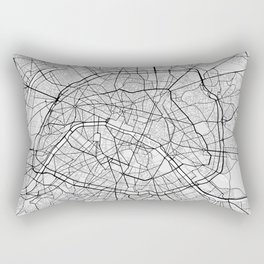 Paris City Map of France - Light Rectangular Pillow