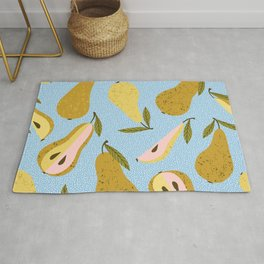 Nothing As It 'Pears To Be #pattern #botanical Rug