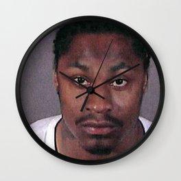 Marshawn Lynch Mugshot Wall Clock