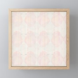 Abstract Subtle Blush and Peach Hummingbirds Framed Mini Art Print
