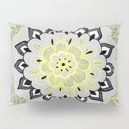 Lemon & Charcoal Lace Pillow Sham
