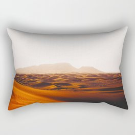 Minimalist Desert Landscape Sand Dunes With Distant Mountains Rectangular Pillow