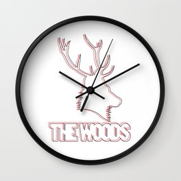 Wooded lines Wall Clock