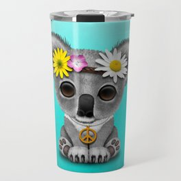 Cute Baby Koala Hippie Travel Mug