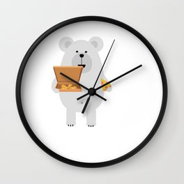 Polar Bear eating Wall Clock