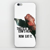 vegetarian iPhone & iPod Skins featuring Vegetarian Support by Barbara Baron