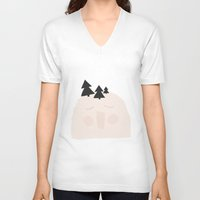 yeti V-neck T-shirts featuring Yeti by Srta Malasuerte