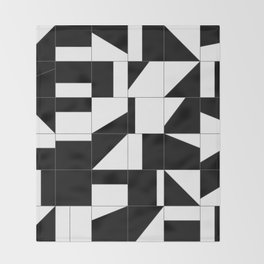 AGBW - Abstract, Geometric, Black & White Throw Blanket