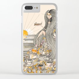 Toffee Sunset Clear iPhone Case