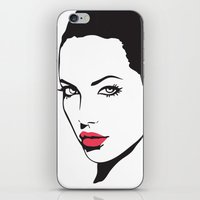 angelina jolie iPhone & iPod Skins featuring Angelina Jolie by Tamsin Lucie