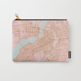 Pink and gold Ottawa map Carry-All Pouch