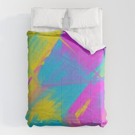 Bright Color Play Digital Oil Painting Comforters