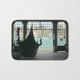 Gondola on Giudecca Island, Grand Canal, Venice Bath Mat