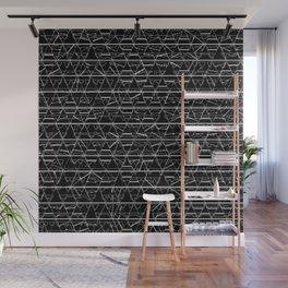 Monochrome Triangles Wall Mural