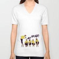 "karu kara V-neck T-shirts featuring "" I WON'T ACT MY AGE NO "" by Karu Kara"