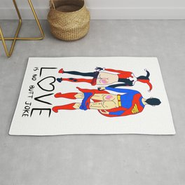 LOVE is no BUTT Joke - Super H Q Rug