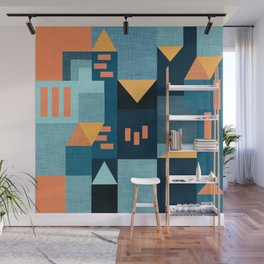 Yellow Klee houses Wall Mural