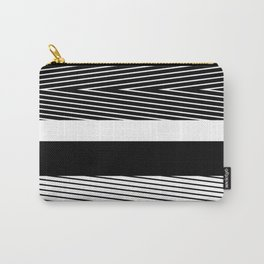 Black and white abstract striped pattern Carry-All Pouch
