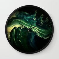 swallow Wall Clocks featuring Sea Swallow by The Rogue Iris