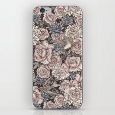 Flowers & Swallows iPhone & iPod Skin