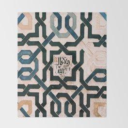Alhambra Tiles. Throw Blanket