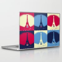 eiffel tower Laptop & iPad Skins featuring Eiffel Tower by Aloke Design
