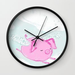 When Pigs Fly Wall Clock