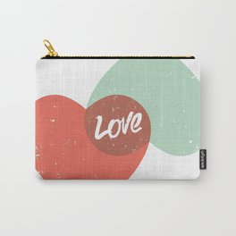 Two lovely hearts Carry-All Pouch