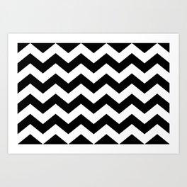 Striped Lodge Art Print
