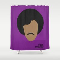 phil jones Shower Curtains featuring Rock Legends - Phil Lynott by sbs' things
