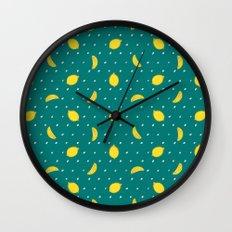 Lemon + Sugar + Water  Wall Clock