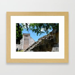 Pyramid in the Distance Framed Art Print