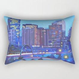 Denver Skyline Rectangular Pillow