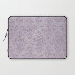 Vintage chic violet lilac floral damask pattern Laptop Sleeve
