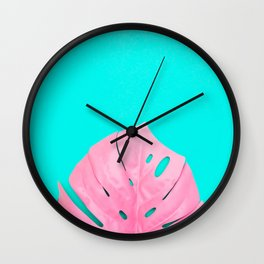 Leaf of Monstera Wall Clock