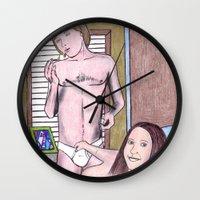 boyfriend Wall Clocks featuring my new boyfriend by odinelpierrejunior