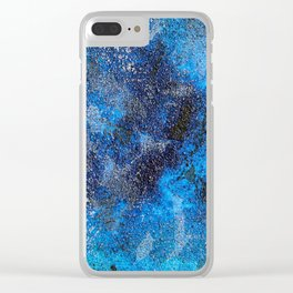 Blues Cosmos #3 Clear iPhone Case