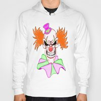 pennywise Hoodies featuring Demented Clown Skull by J&C Creations