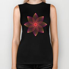 Gradient Strings Blossoms Biker Tank