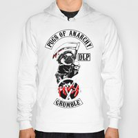 sons of anarchy Hoodies featuring Pugs of Anarchy by Dark Lord Pug