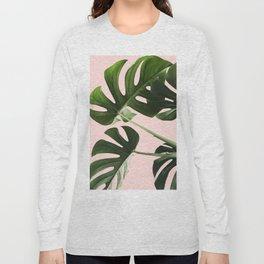 Monstera x Pink Long Sleeve T-shirt