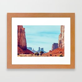 The North Window - Monument Valley Framed Art Print