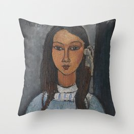 Alice by Amedeo Modigliani Throw Pillow