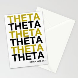THETA HAVE A NICE DAY Stationery Cards