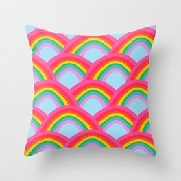 Rainbows Forever Throw Pillow