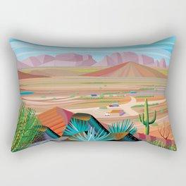 La Pimeria, West Phoenix Rectangular Pillow